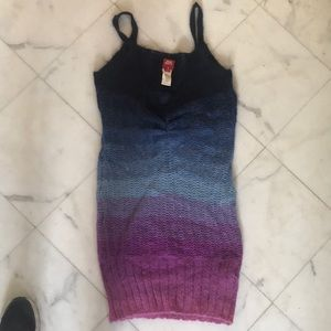 Miss Sixty mohair-blend sweater dress- multicolor